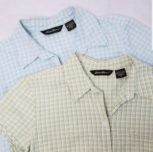 Eddie Bauer Bundle 2 Short Sleeve Shirts